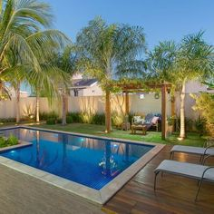 Beauty Tropical Garden Pool Design Ideas for Modern Home . - Beauty Tropical Garden Pool design ideas for modern home … - Backyard Pool Landscaping, Backyard Pool Designs, Small Backyard Pools, Swimming Pools Backyard, Swimming Pool Designs, Landscaping Ideas, Backyard Ideas, Pools For Small Yards, Swimming Ponds