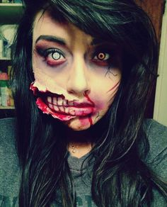 Zombie special fx makeup I did on myself a few weeks back! -leeenisarebel