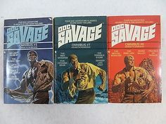 nice Lot of 3 Kenneth Robeson DOC SAVAGE OMNIBUS #5 #7 & #8 Bantam Books - For Sale