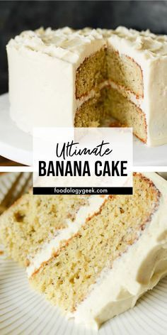 Fresh Banana Cake from Scratch This banana cake is AMAZING! The cake is light and moist and full of banana flavor. The frosting is cream cheese frosting. This is my Favorite Cake! Just Desserts, Delicious Desserts, Dessert Recipes, Yummy Food, Recipes For Cakes, Baking Desserts, Cake Baking, Cupcake Recipes, Dinner Recipes