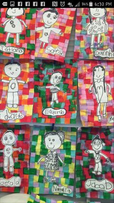 Kinder Self Portrait with tissue Kindergarten Art Lessons, Art Lessons Elementary, Art For Kids, Crafts For Kids, Arts And Crafts, Fun Activities For Kids, Art Activities, Arte Elemental, Grade 1 Art