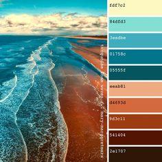 turquoise foam waves … mary-margaretmarx - All For Decorations Color Schemes Colour Palettes, Paint Color Schemes, Colour Pallette, Color Combos, Beach Color Schemes, Beach Color Palettes, Interior Color Schemes, Turquoise Color Palettes, Decorating Color Schemes