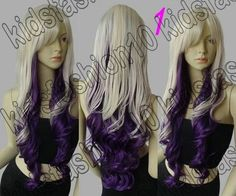 FIXSF496 new style curly wig long wig blonde purple party cosplay Wigs for Women #Unbranded