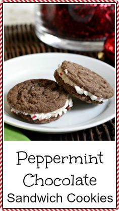 Peppermint Chocolate Sandwich Cookies recipe - best Christmas cookie recipe! snappygourmet.com