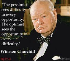 Winston Churchill be an Optimist