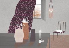 Tranquil illustrated scenes by Nastia Sleptsova | Creative Boom