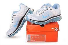 buy popular a82d3 e04c1 billig AM-026  Nike Air Max 2009 kvinnor skor vit ljusblå på heta  försäljning