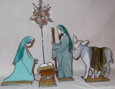 Heirloom 3D Stained Glass Nativity por SaltAndLightArts en Etsy