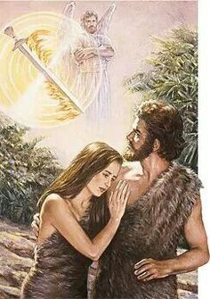 Genesis 3:23With that Jehovah God expelled him from the garden of E′den to cultivate the ground from which he had been taken. 24So he drove the man out, and he posted at the east of the garden of E′den the cherubs and the flaming blade of a sword that was turning continuously to guard the way to the tree of life.