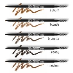 Meet another one of our BRAND NEW products - the BH Studio Pro HD Brow Pencils! We have 5 shades to help keep any set of eyebrows looking bold and beautiful. Beauty Ideas, Beauty Tips, Beauty Products, Beauty Hacks, Hair Beauty, Hd Brows, Makeup Obsession, Bh Cosmetics, Diy Makeup
