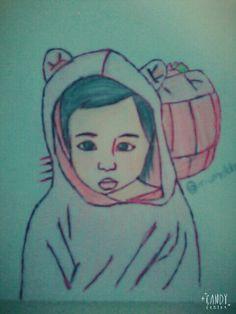 Korean girl baby draw