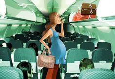 Tips para mujeres embarazadas que tomaran un avión - viajaBonito