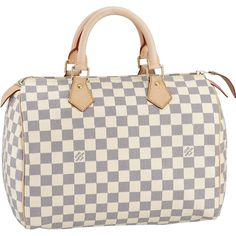 Authentic Louis Vuitton Speedy 30 Damier Azur Canvas Handbags N41533