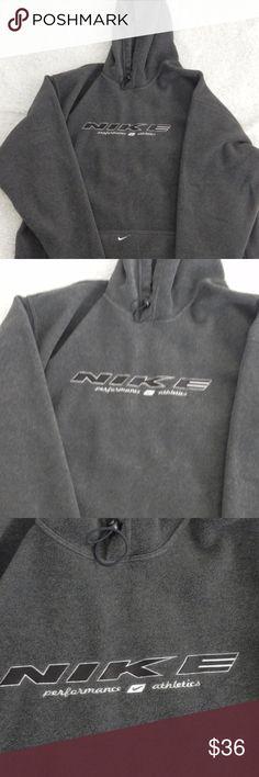 "Nike men's jacket XL Nike men's jacket coat fleece hoodie pocket on front color gray size XL.  chest  25""   length     32""   sleeves      24.5"" Nike Jackets & Coats"