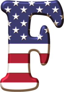 Alfabeto con la Bandera de USA Alphabet Letters Design, Monogram Alphabet, Alphabet And Numbers, Lettering Design, Hand Lettering, 4th Of July Wallpaper, Scrapbook Letters, Holiday Fonts, Ideas