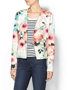Piperlime Collection Floral Moto Jacket   Piperlime