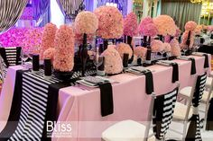 "Exclusive Glow - Bliss Weddings & Events. ""Exclusive Glow"" is a harmony of colors which will inspire the guests who attend the showcase and awake their artistic senses. #blissweddings&events #eventsdecoration #eventsideas #blackwhite&pinkevent  #weddingfairideas"