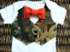 Hey, I found this really awesome Etsy listing at http://www.etsy.com/listing/158913407/baby-boy-clothes-baby-camoflauge-orange
