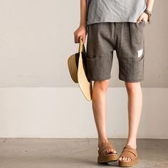 Gray shorts summer trousers clothes