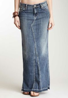 The united pentecostal apostolic denim skirt -for the girl who isn't allowed to wear pants.