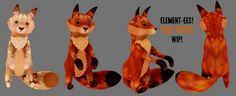 Element-ees! Fiery Foxies WIP for Next Round of The Arcade | Flickr - Photo Sharing!