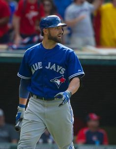 Kevin Pillar out on strikes in Cleveland/ May 2015