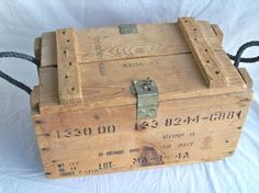 Vintage U.S. Military Wooden Hand Grenade Crate  by leapinglemming