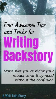 How to Write Backstory: When & How Much to Reveal When it comes to backstory, writers need to be selective in what we share and when we share it. To help with that, here are the six guidelines I use when including backstory in my books! Creative Writing Tips, Book Writing Tips, Writing Quotes, Fiction Writing, Writing Process, Writing Resources, Writing Help, Writing Skills, Writing Ideas