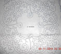 Haft Richelieu No. Hand Quilting Patterns, Card Patterns, Embroidery Patterns, Machine Quilting, Machine Embroidery, Cutwork Embroidery, Drawn Thread, Outline Drawings, Point Lace