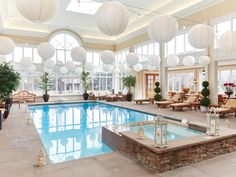 """""""This Bridle Path indoor pool had a cameo in an Aaron Sorkin movie"""" Luxury Swimming Pools, Luxury Pools, Dream Pools, Inside Pool, Inside A House, The Sims, Dream House Plans, My Dream Home, Inside Mansions"""