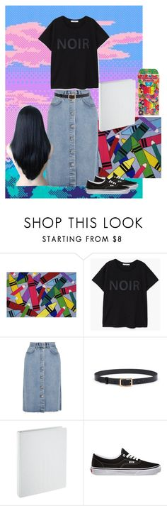 """""""Colorful"""" by daisy-giselle on Polyvore featuring Fun Rugs, MANGO, M.i.h Jeans and Vans"""