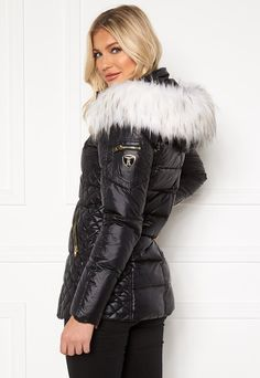 ROCKANDBLUE Eve Lustrous Nylon Down Black/Bleached/Gold - Bubbleroom Down Coat, Bleach, Marc Jacobs, Tory Burch, Winter Jackets, Punk, Gold, Puffer Coats, Outfits