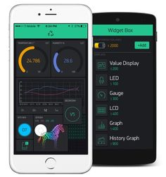 Apps for iOs and Android to connect Arduino, Raspberry Pi and similar hardware. Build a beautiful drag-and-drop user interface for your project in less than 5 minutes! Arduino, Banana Pi, Digital Dashboard, Esp8266 Wifi, Electronic News, Smartphone, User Interface Design, Hardware, Sem Internet
