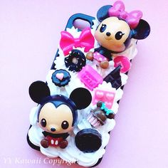 Mickey and Minnie baby decoden kawaii sweets phone case for iPhone 4/4s, 5, Samsung Galaxy S3, S4, Mini, S5, Ace, Htc One and One X on Etsy, $22.00