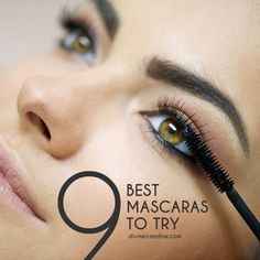 Check out our top 9, must-have, best mascaras! Big or small, drugstore or high end—I've tried them all. Find your perfect match. #divinecaroline #mascara #beauty