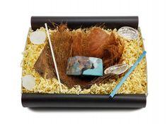 """Geschenkbox """"Türkis"""" mit Bananenblatt - von ideas in boxes"""