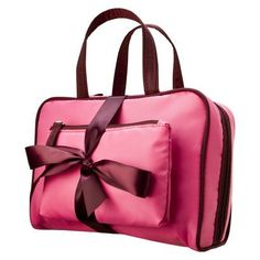 Contents 2 Piece Pink Cosmetic Bag Set.Opens in a new window