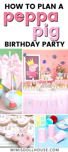 Peppa Pig Birthday Party Ideas | Mimi's Dollhouse Girl Birthday Decorations, Girls Birthday Party Themes, Pig Birthday, Girl Parties, Birthday Ideas, Creative Party Ideas, Birthday Traditions, Pig Party, Peppa Pig