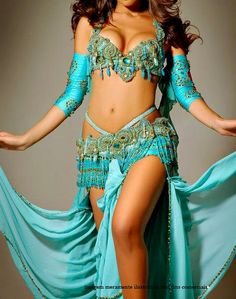 bellydance costume - lovely color. What do you think guys? Guys?? Are you there? :)
