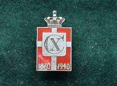 Denmark King Christian X1940 Georg Jensen  silver pin - http://designerjewelrygalleria.com/georg-jensen/denmark-king-christian-x1940-georg-jensen-silver-pin/