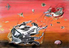 Joanna Rolicka  Bez tytułu– collage na papierze, 100 x 70 cm, 2015 r
