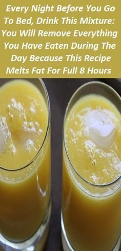 Every Night Before You Go To Bed, Drink This Mixture burn fat before bed