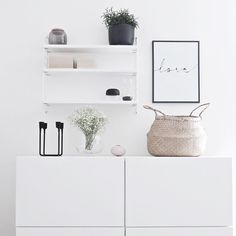 white ● minimalism ● inspiration ● pinned by /birambi_/ Scandinavian Living, Scandinavian Interior, Interior Design Living Room, Living Room Designs, Ikea, Beautiful Interior Design, Interior Inspiration, Design Inspiration, Decoration