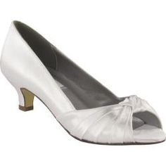 63eaa9a8b7f4 Shop for Women s Dyeables Becky White Satin. Get free shipping at  Overstock.com -