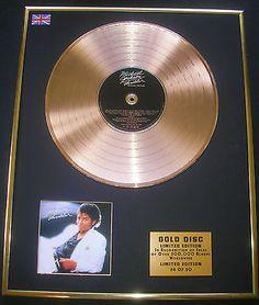 MICHAEL JACKSON CD GOLD DISC RECORD Thriller - http://www.michael-jackson-memorabilia.co.uk/?p=8192