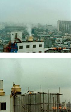 Spraying scenes from the Aum Shinrikyo headquarters building (photographs taken July by the Department . Ecology, Nerd, Death, Japan, Building, Libros, Buildings, Otaku