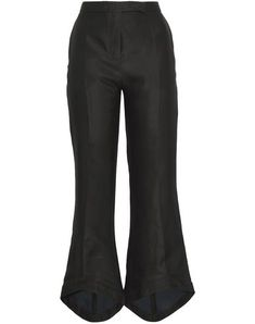 Crepe Solid color Mid rise Regular fit Flare & wide-leg Button Zip Multipockets Contains non-textile parts of animal origin Antonio Berardi, Black Flare Pants, Black Pants, Textiles, World Of Fashion, Casual Pants, Hemline, Clothes For Women, Shopping
