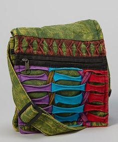 Take a look at this Green Fold-Over Crossbody Bag by Rising International on #zulily today!