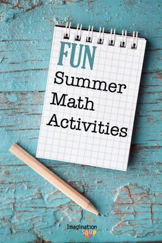 huges list of fun math activities for kids to do during the summer