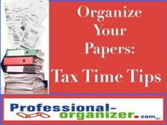 Don't procrastinate! Start organizing your papers early for tax time. For Nerium: www.healthybody.nerium.com